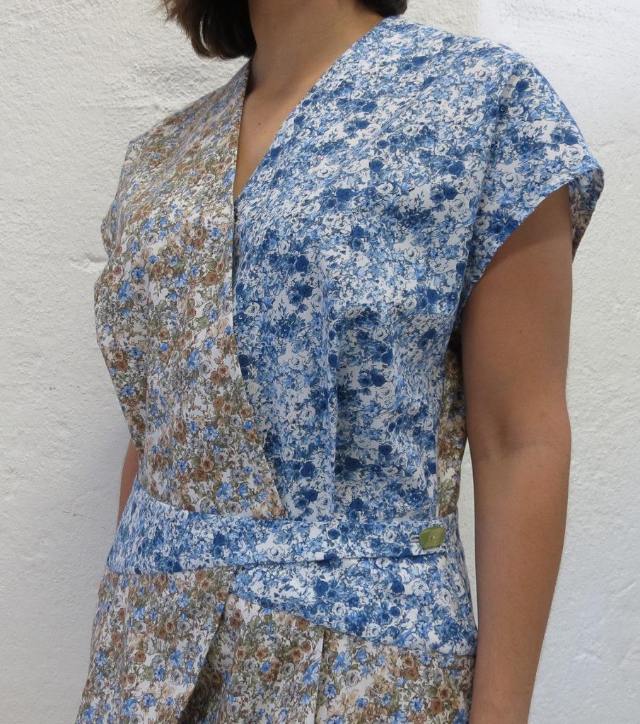 Sommer kjole i 100% Egyptisk bomull poplin med blomster