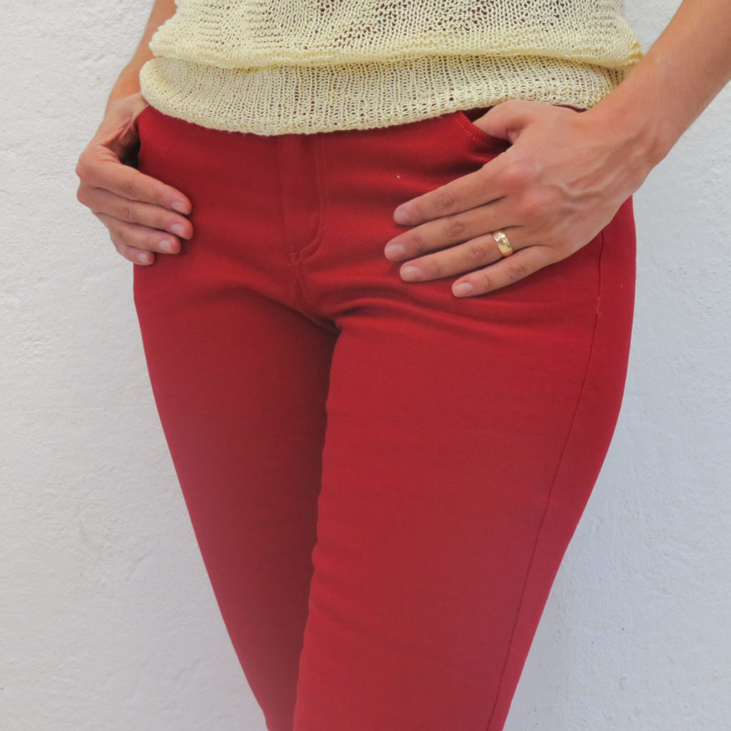 Skinny jeans stretch gabardine