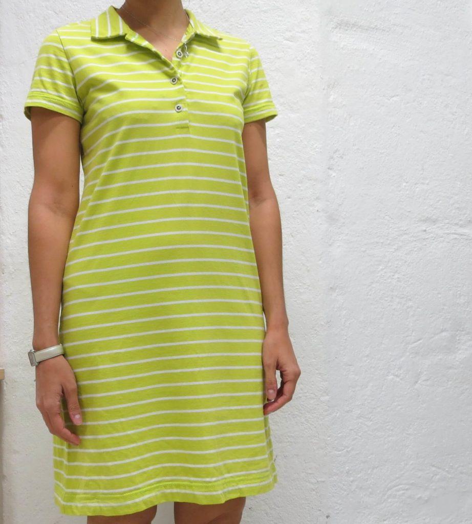 Neongrønn_jersey_kjole