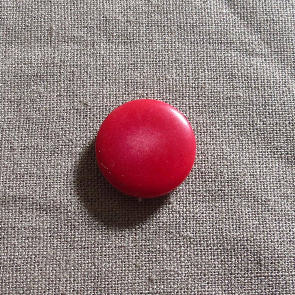 Rund halv blank knapp - Under isen - Rød