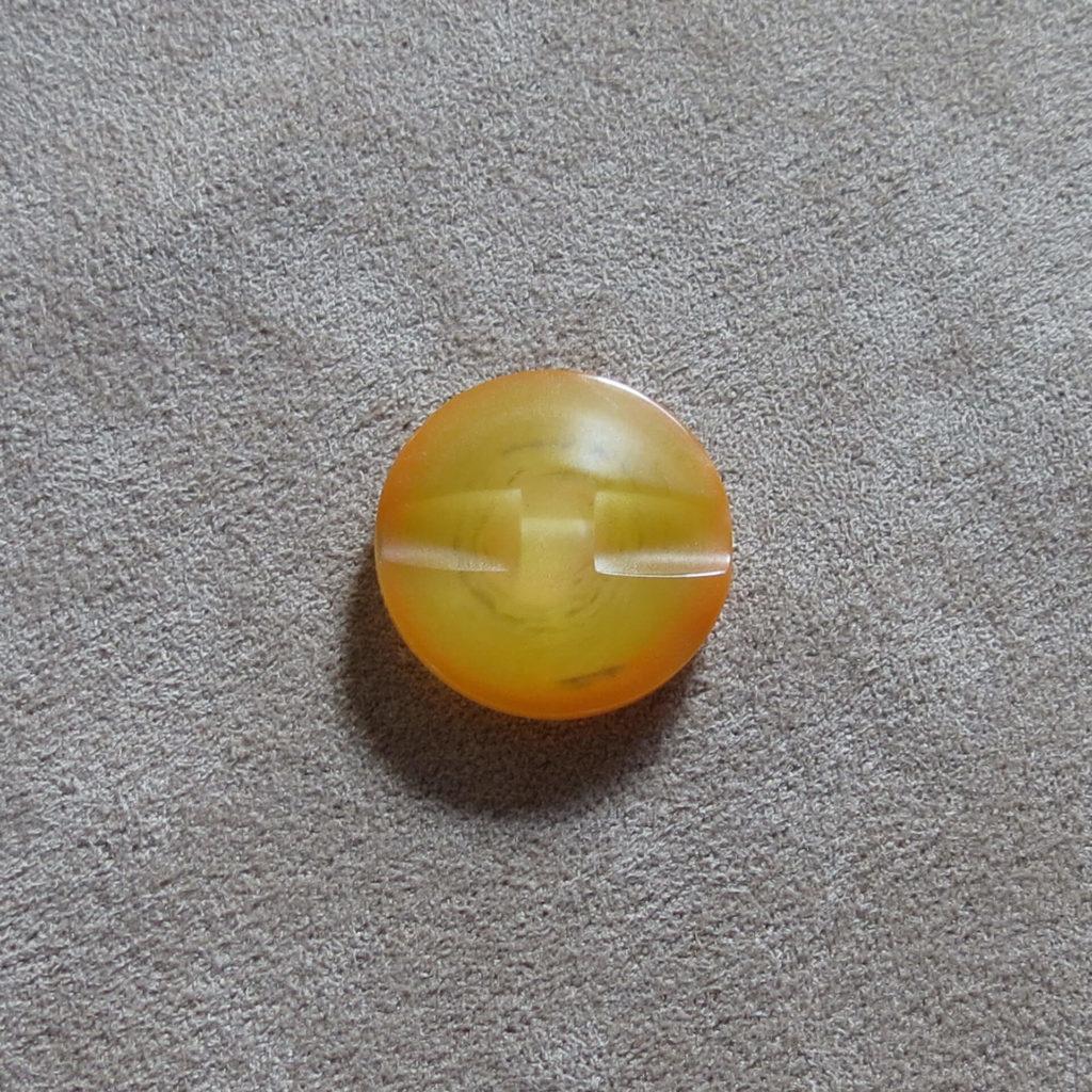 Rund halvblank knapp - Kjernen myk - Oransje