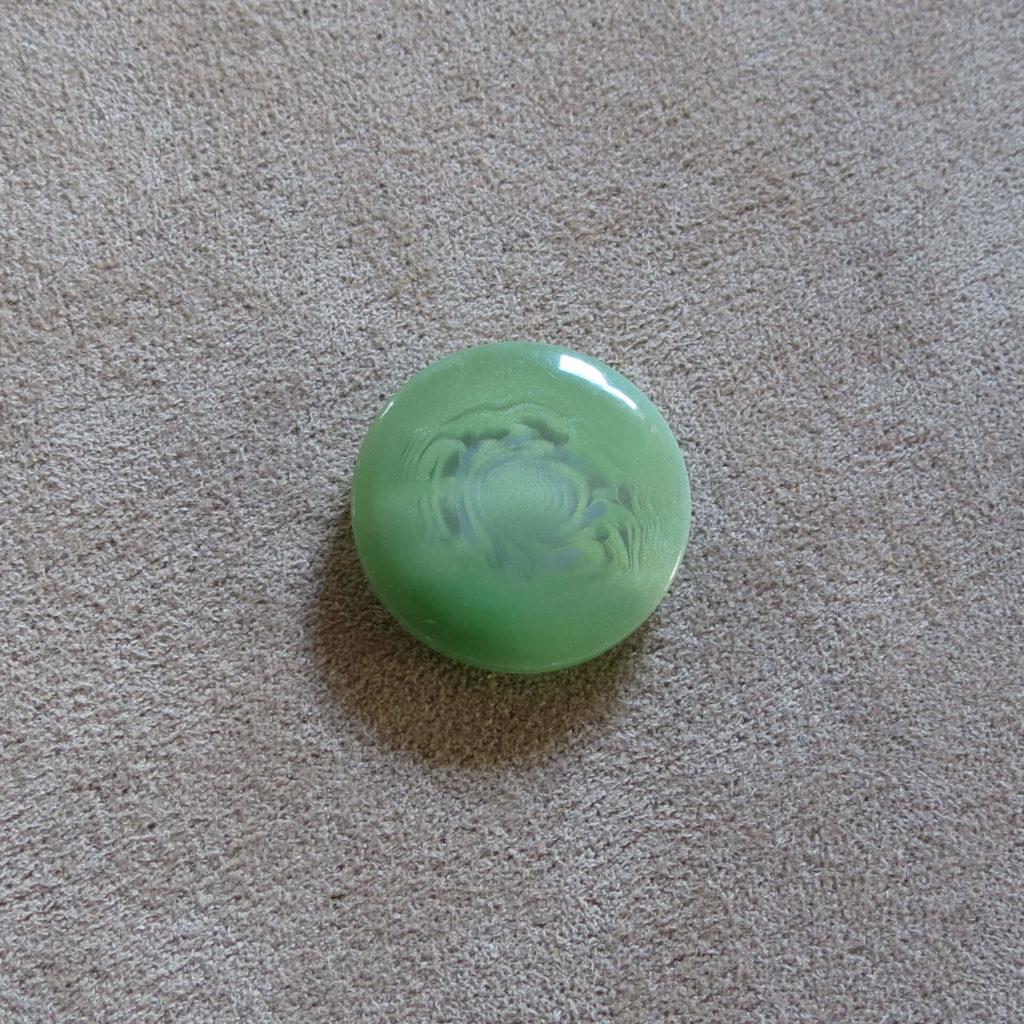 Rund halvblank knapp - Kjernen bred - Grønn
