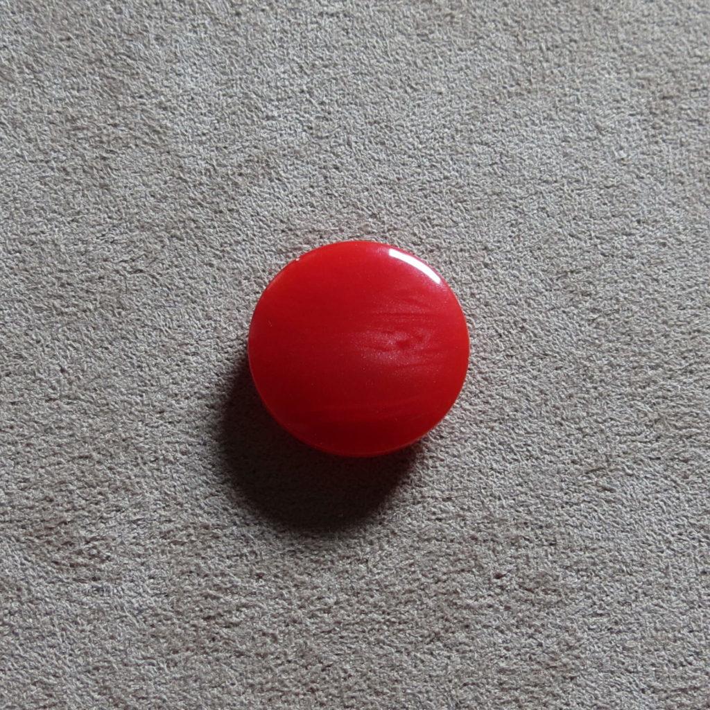 Rund blank knapp - Nordlys - Rød