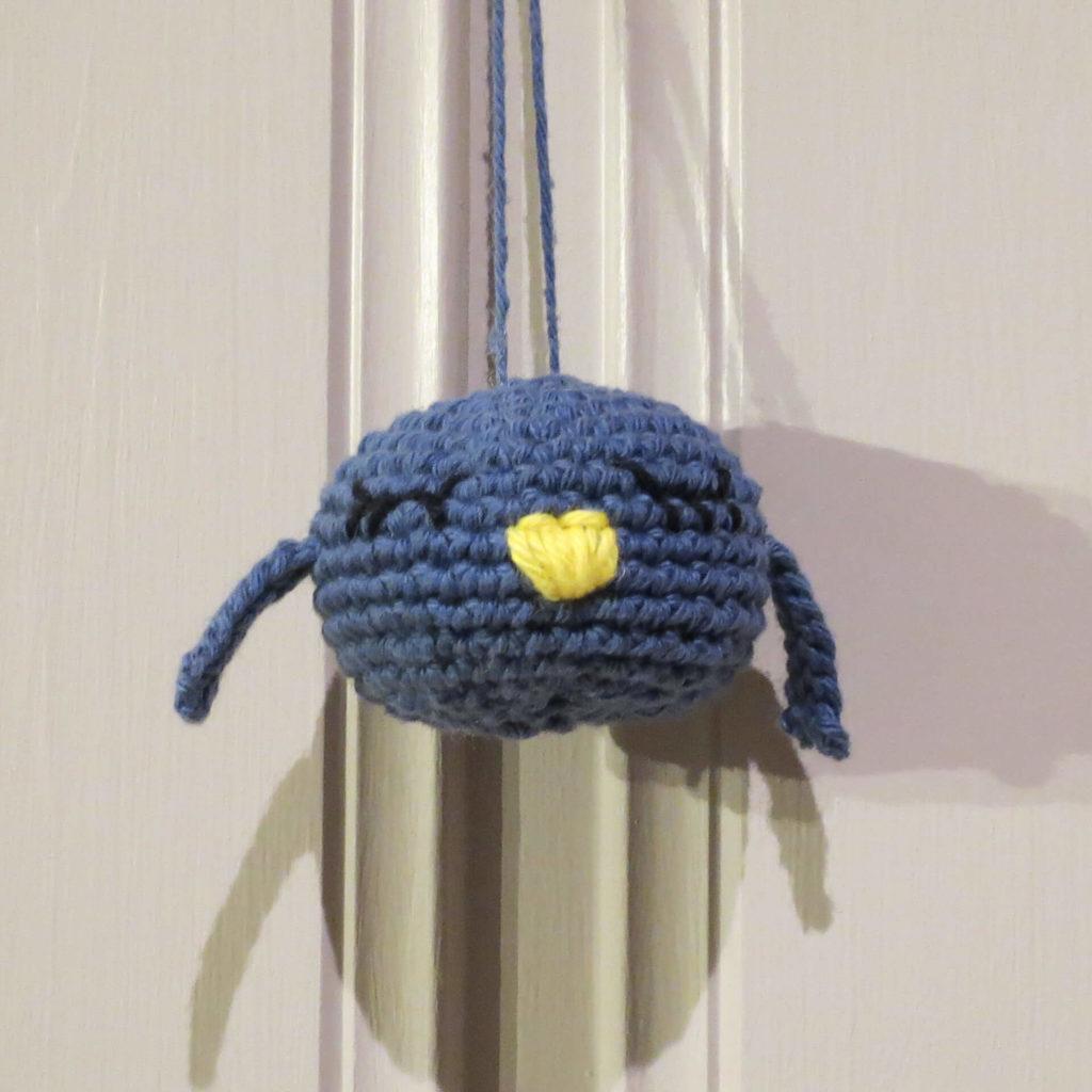 Julekule: Lille fuglen - Blå
