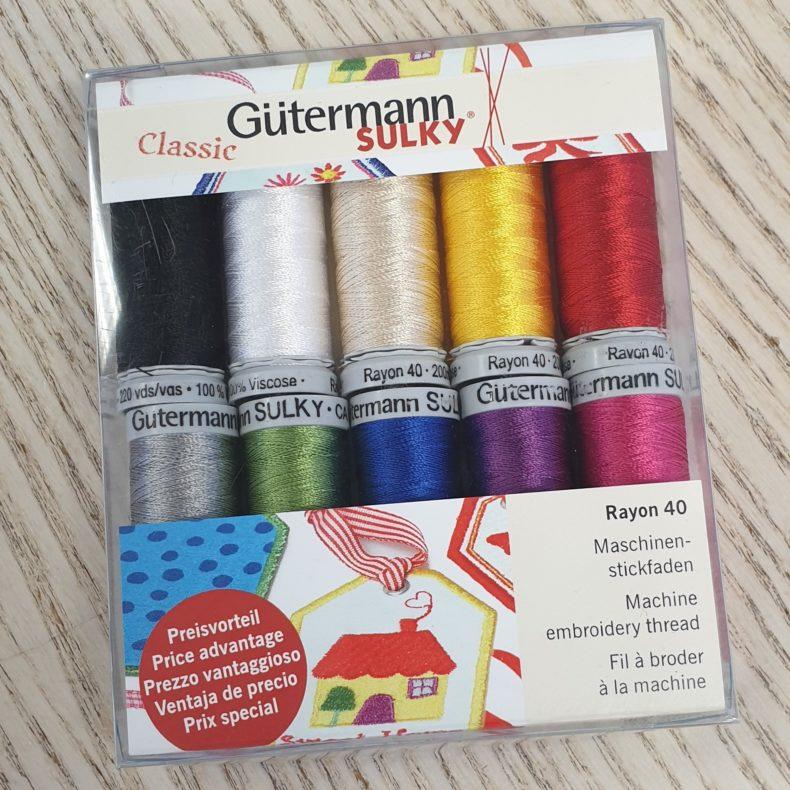 Guetermann Sulky - Maskinbroderitråd - 10 farger