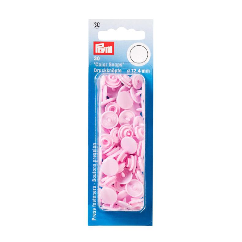 Prym plast trykknapper lyserosa