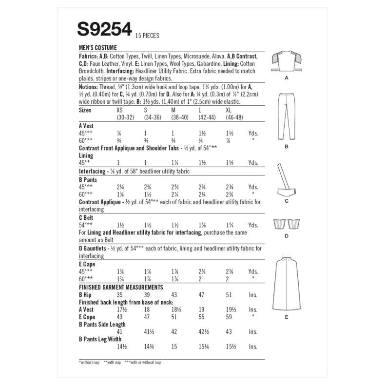 Simplicity S9254